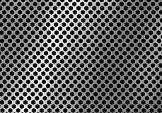 Abstracte zilveren die metaalachtergrond van hexagon patroontextuur wordt gemaakt stock illustratie
