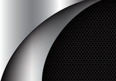 Abstracte zilveren van de het ontwerp moderne luxe van de krommevorm vector als achtergrond vector illustratie