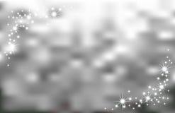 Abstracte zilveren vonkenachtergrond Stock Foto's