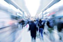 Abstracte zoemende passagiers in metro Stock Afbeeldingen