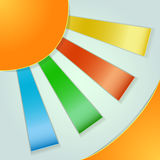 Abstracte zon applique Royalty-vrije Stock Foto