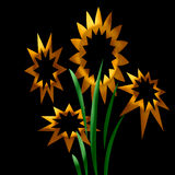 Abstracte zonnebloemen Royalty-vrije Stock Fotografie