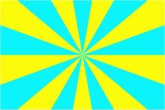Abstracte zonnestraalpatroon, gele en lichtblauwe stralenachtergrond Vector illustratie, EPS10 Geometrisch patroon stock illustratie