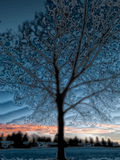 Abstracte zonsondergang Royalty-vrije Stock Fotografie