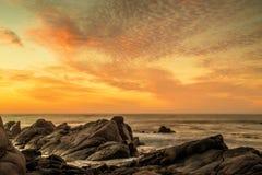 Abstracte zonsondergang Stock Afbeelding