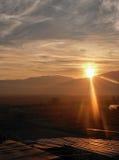 Abstracte zonsondergang Stock Afbeeldingen