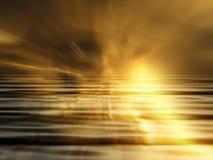 Abstracte zonsondergang Royalty-vrije Stock Afbeelding