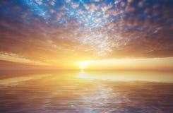 Abstracte zonsondergangachtergrond Royalty-vrije Stock Afbeeldingen
