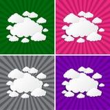 Abstracte zonstralen met wolkenachtergrond Stock Foto