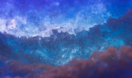 Abstracte zoute ruimteachtergrond Stock Afbeelding