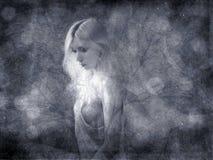 Abstracte zwart-wit achtergrond Royalty-vrije Stock Foto's