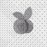 Abstracte zwart-wit appel Stock Afbeeldingen