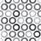 Abstracte zwart-wit cirkel naadloze textuur Royalty-vrije Stock Foto's