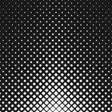 Abstracte zwart-wit rond gemaakte vierkante patroonachtergrond - vector stock illustratie
