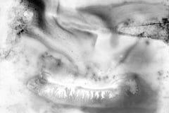 Abstracte zwart-witte achtergrond Donkere backgro van de grungetextuur Stock Fotografie