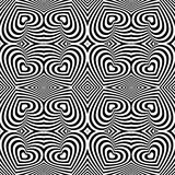 Abstracte zwart-witte de dag naadloze achtergrond van hartvalentijnskaarten Royalty-vrije Stock Afbeelding
