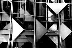 Abstracte zwart-witte driehoeksvorm Royalty-vrije Stock Foto