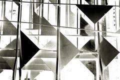 Abstracte zwart-witte driehoeksvorm Stock Fotografie