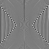 Abstracte zwart-witte gestreepte achtergrond Geometrisch patroon met visueel vervormingseffect vector illustratie