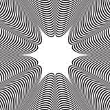 Abstracte zwart-witte gestreepte achtergrond Optische illusie Stock Afbeeldingen