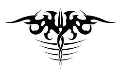 Abstracte zwart-witte tatoegering Stock Foto's