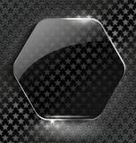 Abstracte zwarte achtergrond met glas element-kader Stock Foto