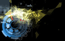 Abstracte zwarte de technologieachtergrond van de toestelbrand Royalty-vrije Stock Fotografie