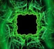 Abstracte Zwarte en groene achtergrond Royalty-vrije Stock Afbeeldingen