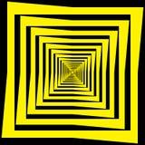 Abstracte zwarte geel van het Kader Veelvoudige Perspectief royalty-vrije illustratie