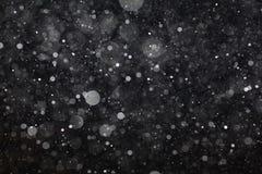 Abstracte zwarte witte sneeuwtextuur op zwarte achtergrond Royalty-vrije Stock Fotografie