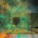 Abstracted landscape Royalty Free Stock Image