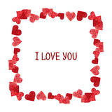 Abstractframe.  Valentines Day design Stock Photo