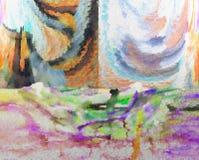 Abstractie Binnenlands grafisch Het schilderen Samenvatting Art beeld Ontwerp stock illustratie
