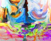 Abstractie Binnenlands grafisch Het schilderen Samenvatting Art beeld Ontwerp stock afbeelding