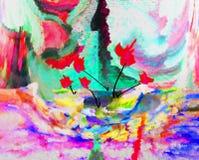 Abstractie Binnenlands grafisch Het schilderen Samenvatting Art beeld Ontwerp royalty-vrije stock foto