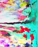 Abstractie Binnenlands grafisch Het schilderen Samenvatting Art beeld Ontwerp stock afbeeldingen