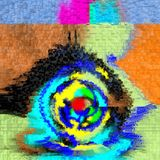 Abstractie Binnenlands grafisch Het schilderen Samenvatting Art beeld Ontwerp stock foto's