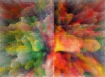 Abstractie Binnenlands grafisch Het schilderen Samenvatting Art beeld Ontwerp stock fotografie