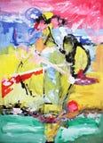 Abstractie Binnenlands grafisch Het schilderen Samenvatting Art beeld Ontwerp royalty-vrije stock afbeelding