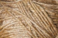 Bruine weefseldraden Royalty-vrije Stock Afbeeldingen