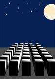 Abstractie, de volle maan. stock illustratie