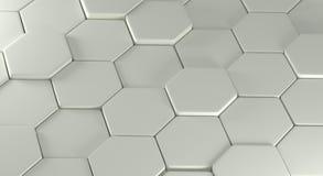 Abstractie die uit grijze veelhoeken bestaan Royalty-vrije Stock Afbeeldingen