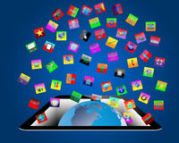 De abstractie 05.04.13 van de tablet Stock Afbeelding