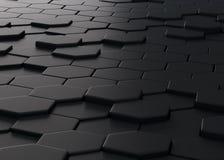 Abstractie die uit zwarte veelhoeken bestaan Stock Foto's