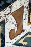 Abstractie, fragment, hete batik, achtergrondtextuur stock fotografie