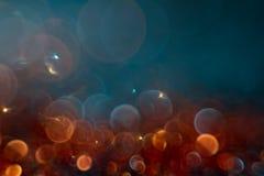 Abstractie kleurrijke bokeh op een donkere achtergrond defocused royalty-vrije stock afbeelding