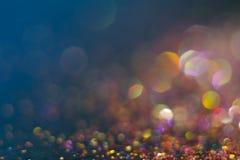 Abstractie kleurrijke bokeh op een donkere achtergrond defocused royalty-vrije stock foto's