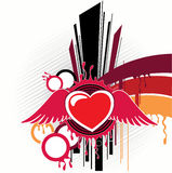 Abstractie met hartkunstwerk Royalty-vrije Illustratie