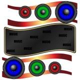Abstractie multicolored akoestische sprekers vector illustratie