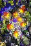 Abstractie Samenvatting Het schilderen beeld Textuur geweven uniciteit abstracties samenvattingen texturen kleurrijk kleuren Grap stock illustratie
